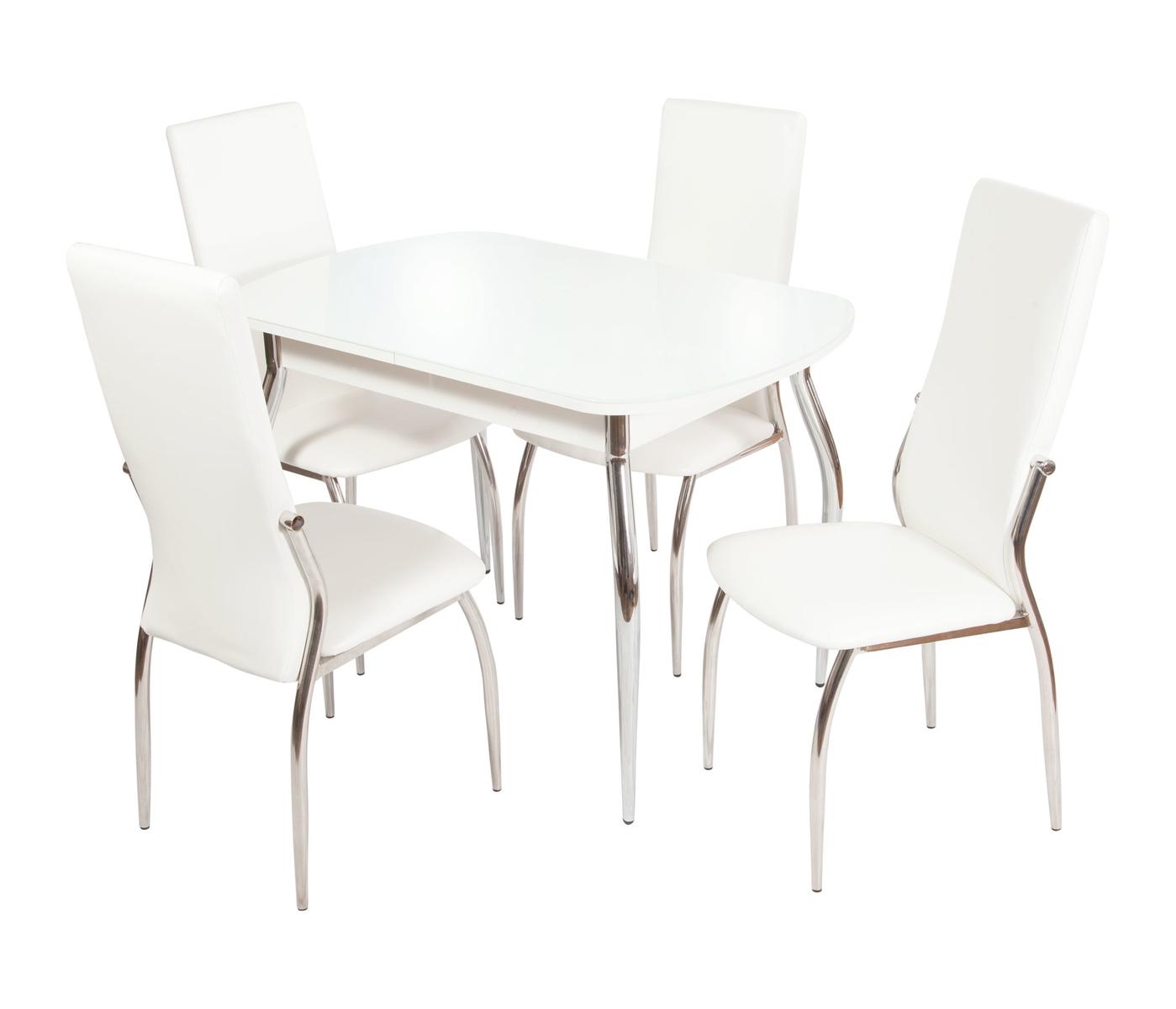 Обеденная группа Ривьера вариант №1 (белый)