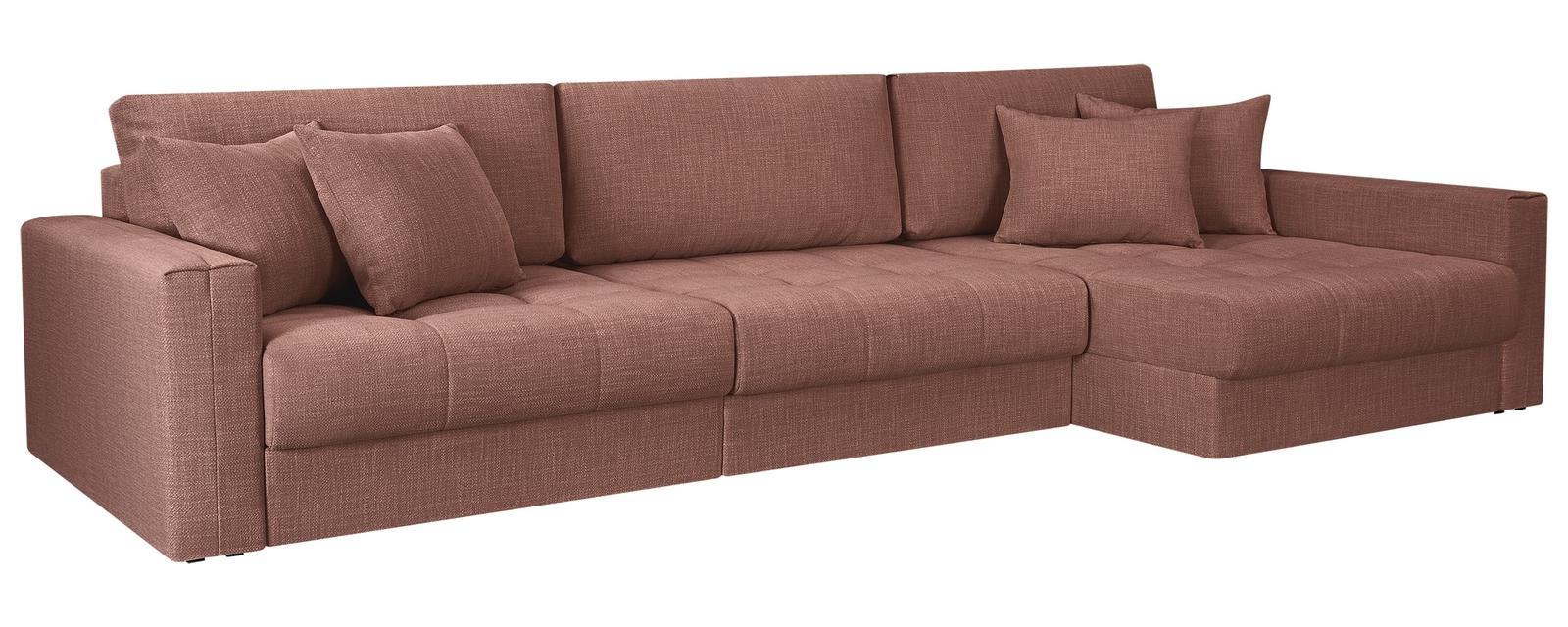 Модульный диван Брайтон вариант №3 Nobilia розовый (Рогожка) HomeMe
