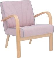 Кресло для отдыха Шелл Дуб шампань, ткань Soro 61, кант Soro 61