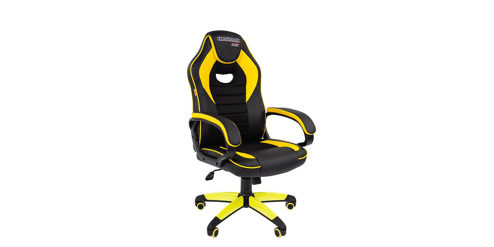 Игровое кресло Chairman game 16 (черный/желтый)
