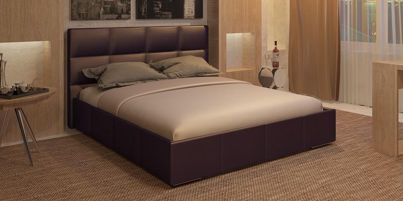Мягкая кровать 200х160 Лайф без подъемного механизма (Шоколад)