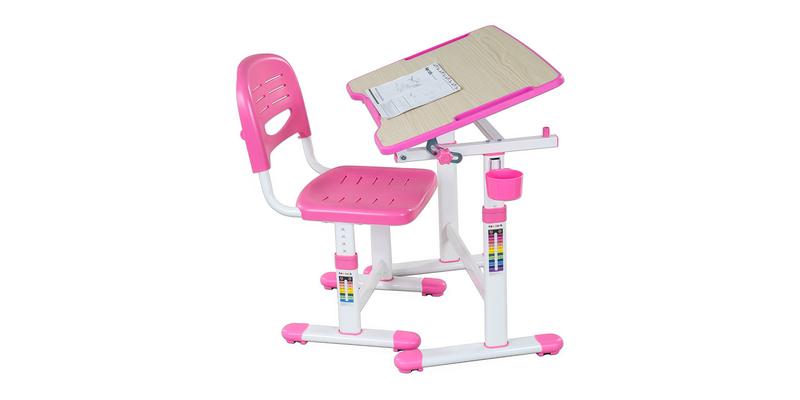 Детская парта Piccolino Ii комплект парта + стул (белый/розовый)