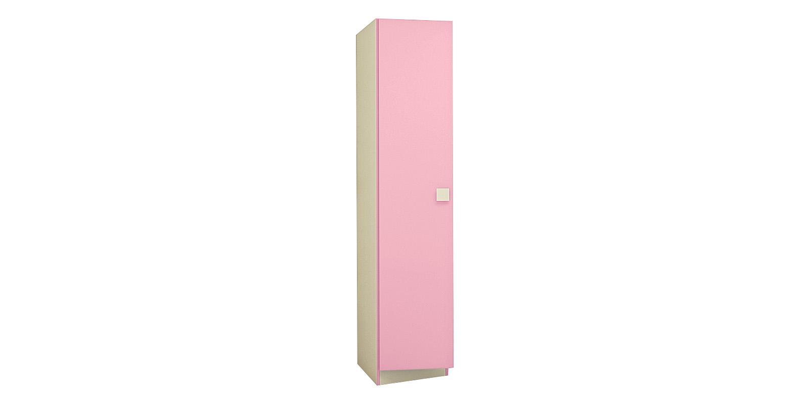 Шкаф распашной однодверный Нова (бежевый/розовый)