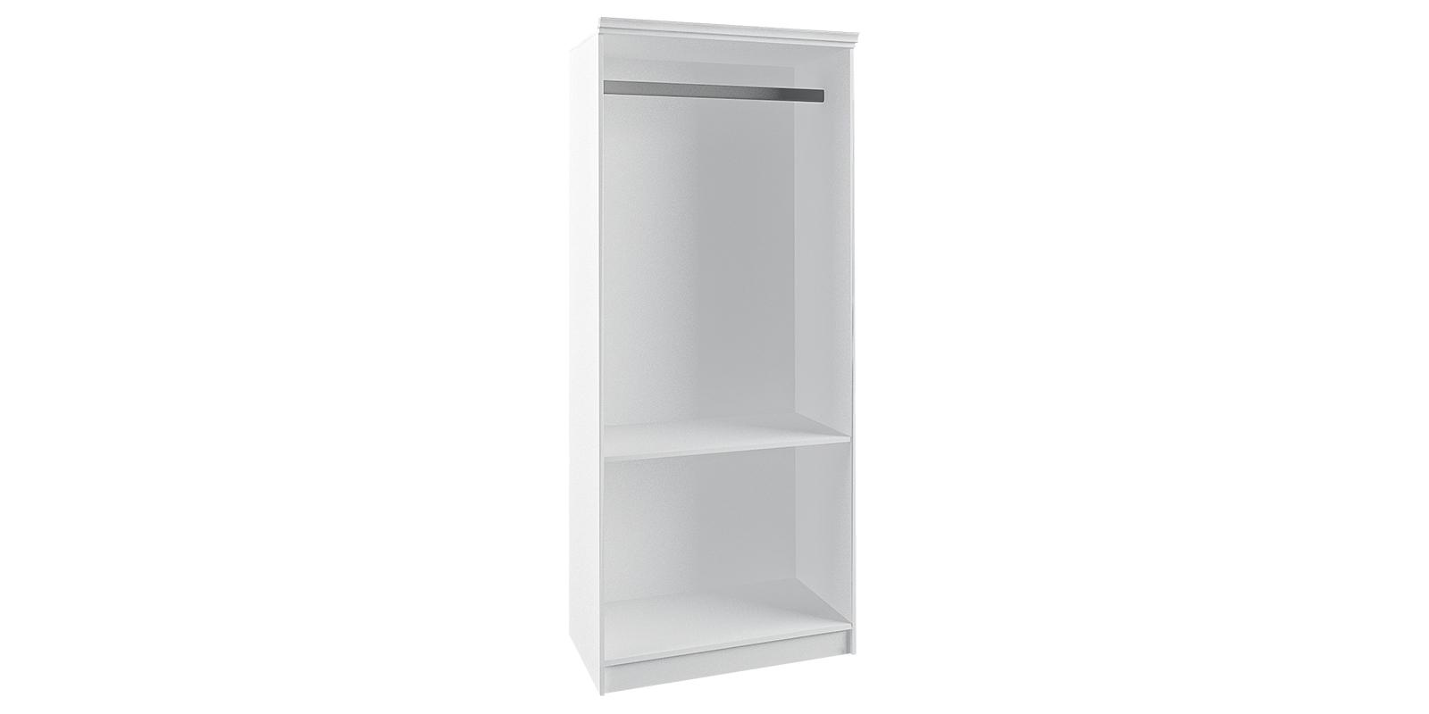 Шкаф распашной двухдверный Диамант вариант №3 (белый)