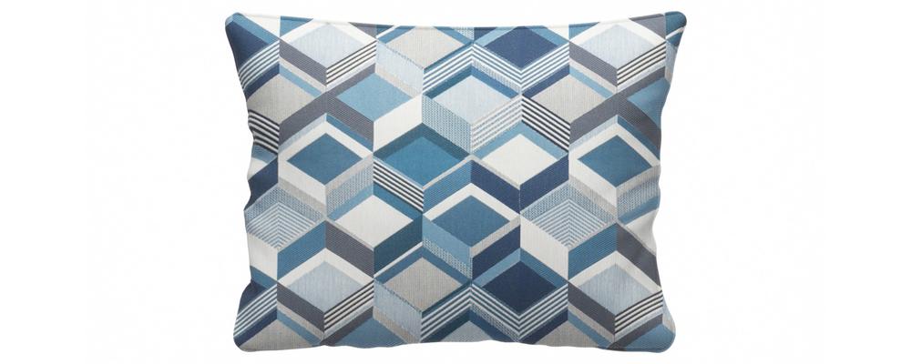 Декоративная подушка Портленд 60х48 см Talisman вариант №1 синий (Жаккард)