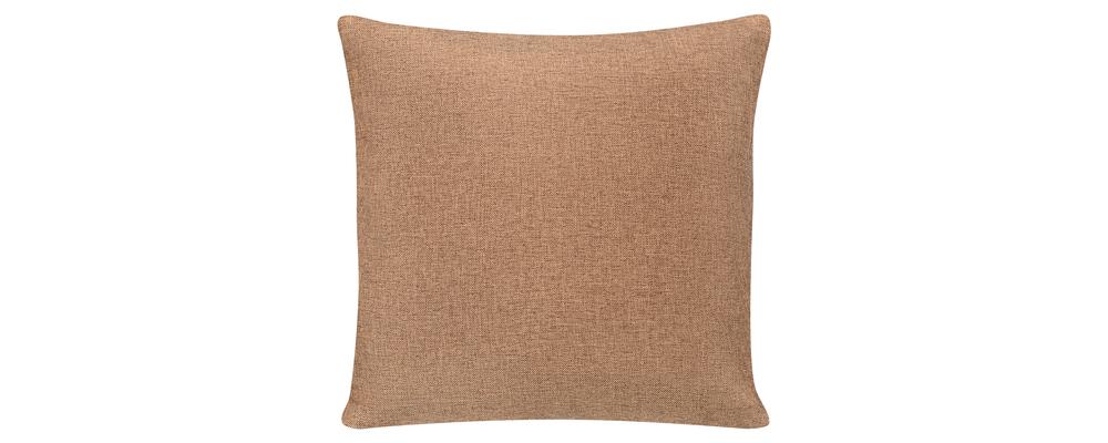 Декоративная подушка Медисон 40х40 см Kiton коричневый (Рогожка)