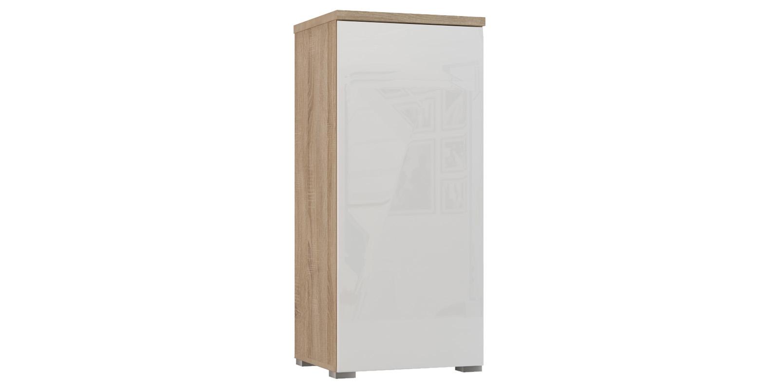 Шкаф распашной однодверный Верона вариант №2 (дуб сонома/белый глянец)