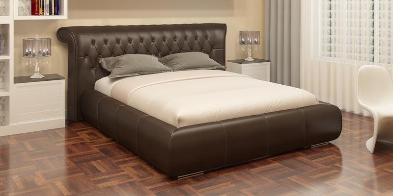 Мягкая кровать 200х160 Вирджиния с подъемным механизмом (Шоколад)