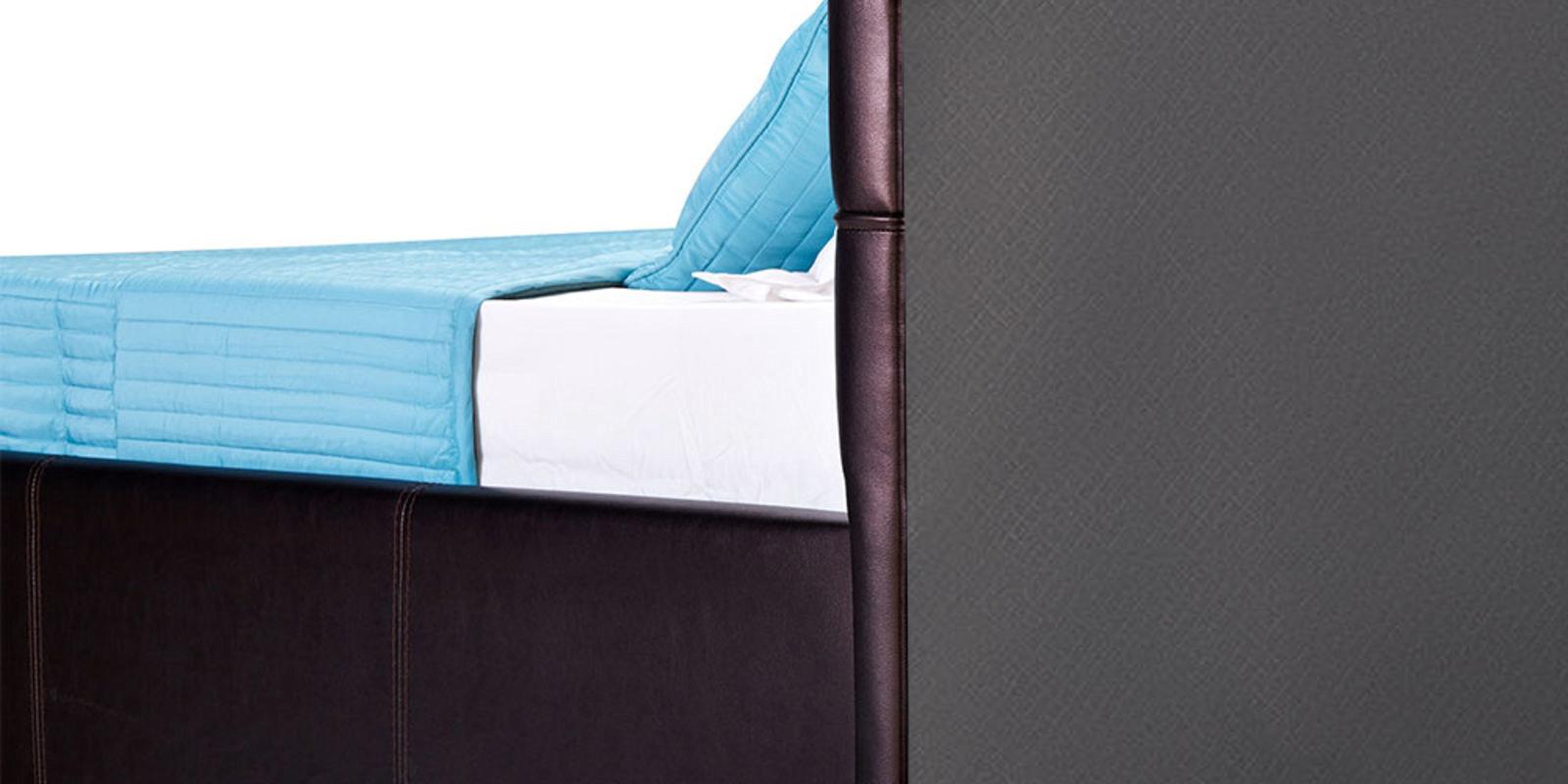 Мягкая кровать 200х160 Лайф с подъемным механизмом (Шоколад) от HomeMe.ru