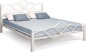Кровать Венера 1 /140*200/Металл/Белый/Белый/