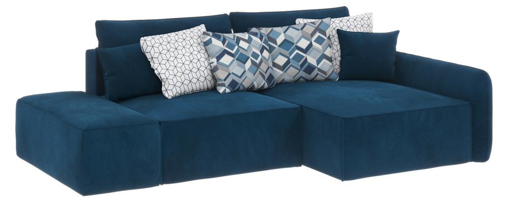 Модульный диван Портленд вариант №3 Premier светло-синий (Микровелюр, правый)