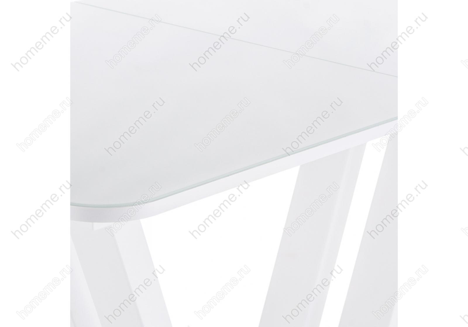 Стол стеклянный Лорент 140 белый 302738 Лорент 140 белый 302738 (15323)