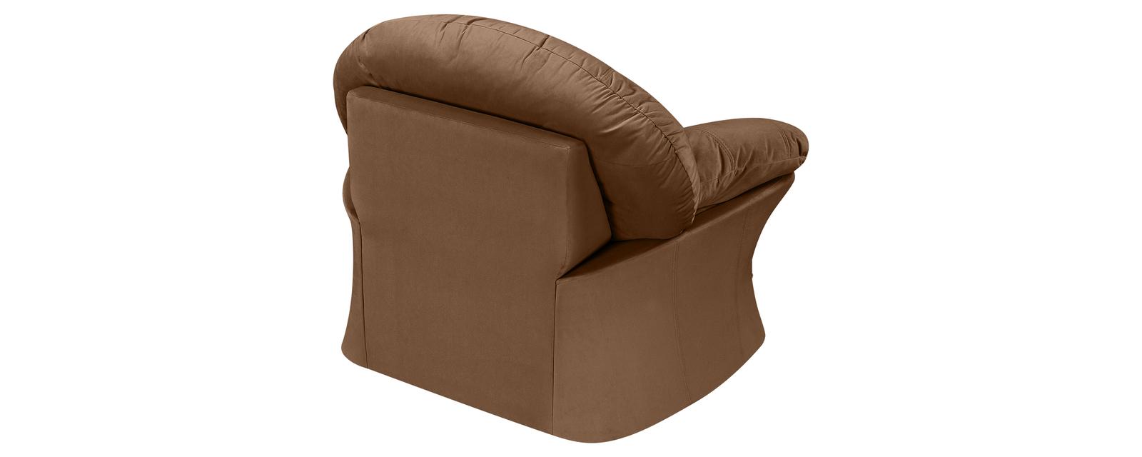 Кресло тканевое Ланкастер Velure коричневый (Велюр) от HomeMe.ru