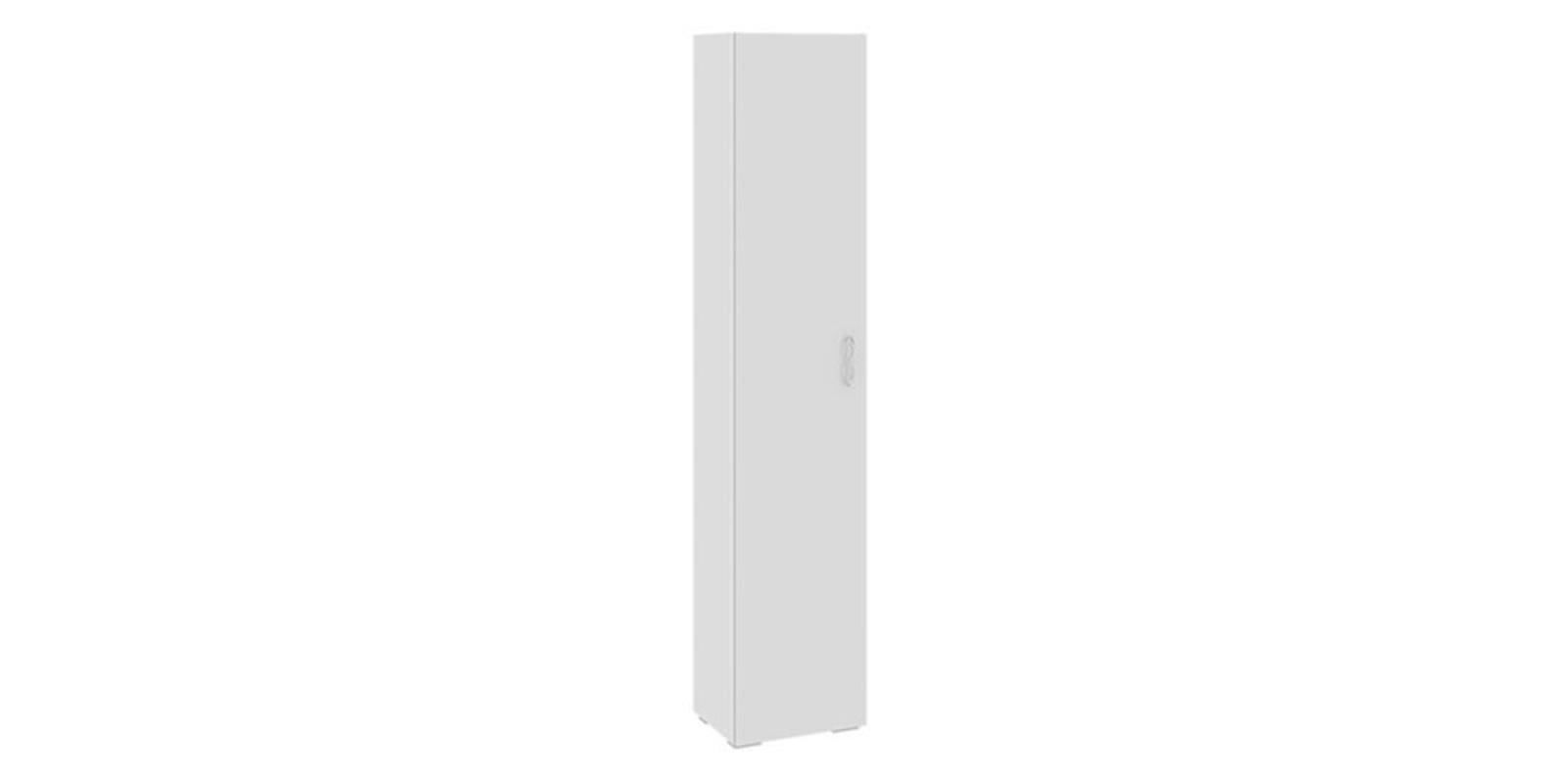 Шкаф распашной однодверный Давос вариант №1 (белый матовый)