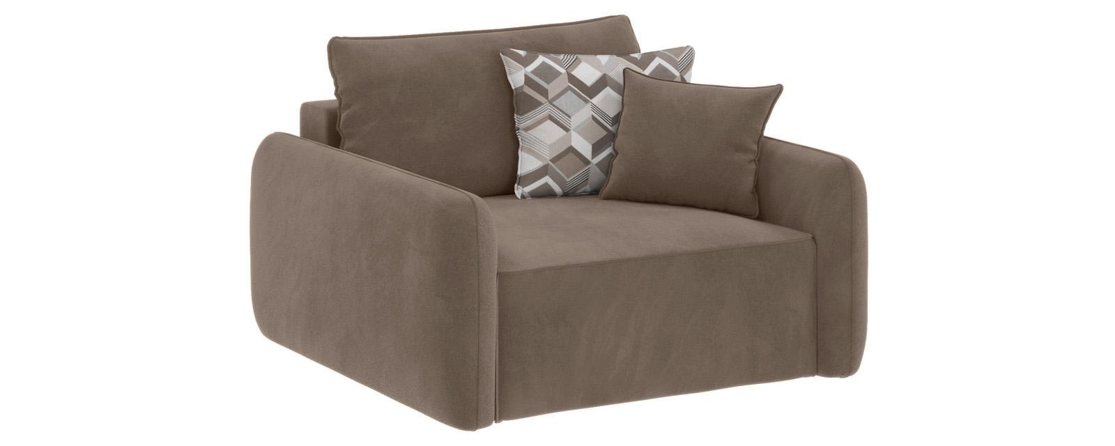 Модульный диван Портленд Soft темно-бежевый (Вел-флок)