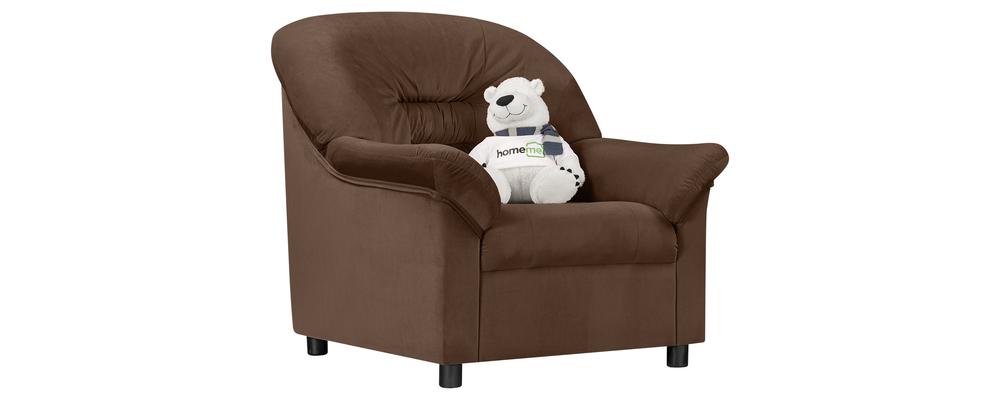Кресло тканевое Женева Velure темно-коричневый (Велюр)