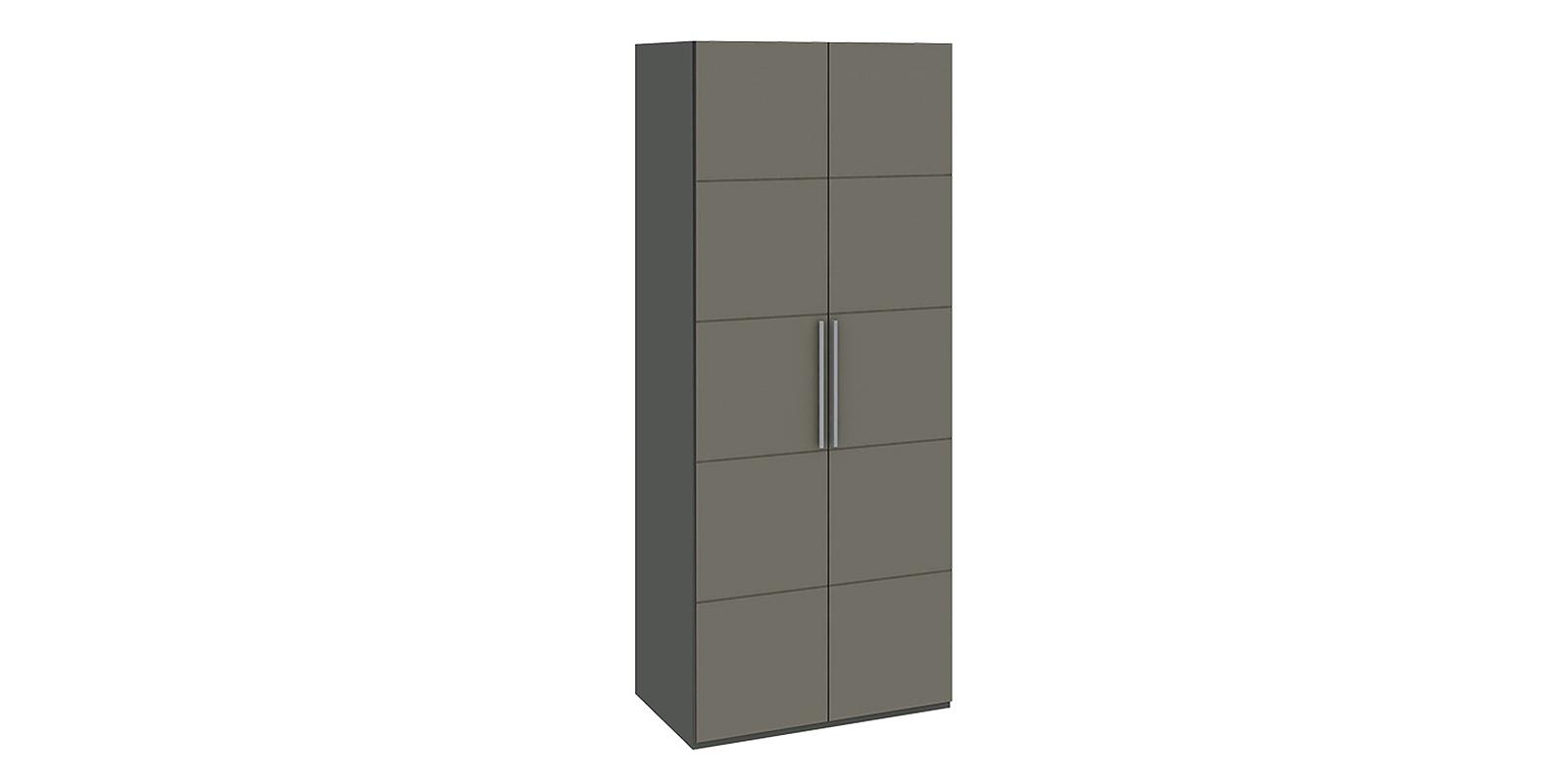 Шкаф распашной двухдверный Сорренто вариант №1 (темно-серый/серый)