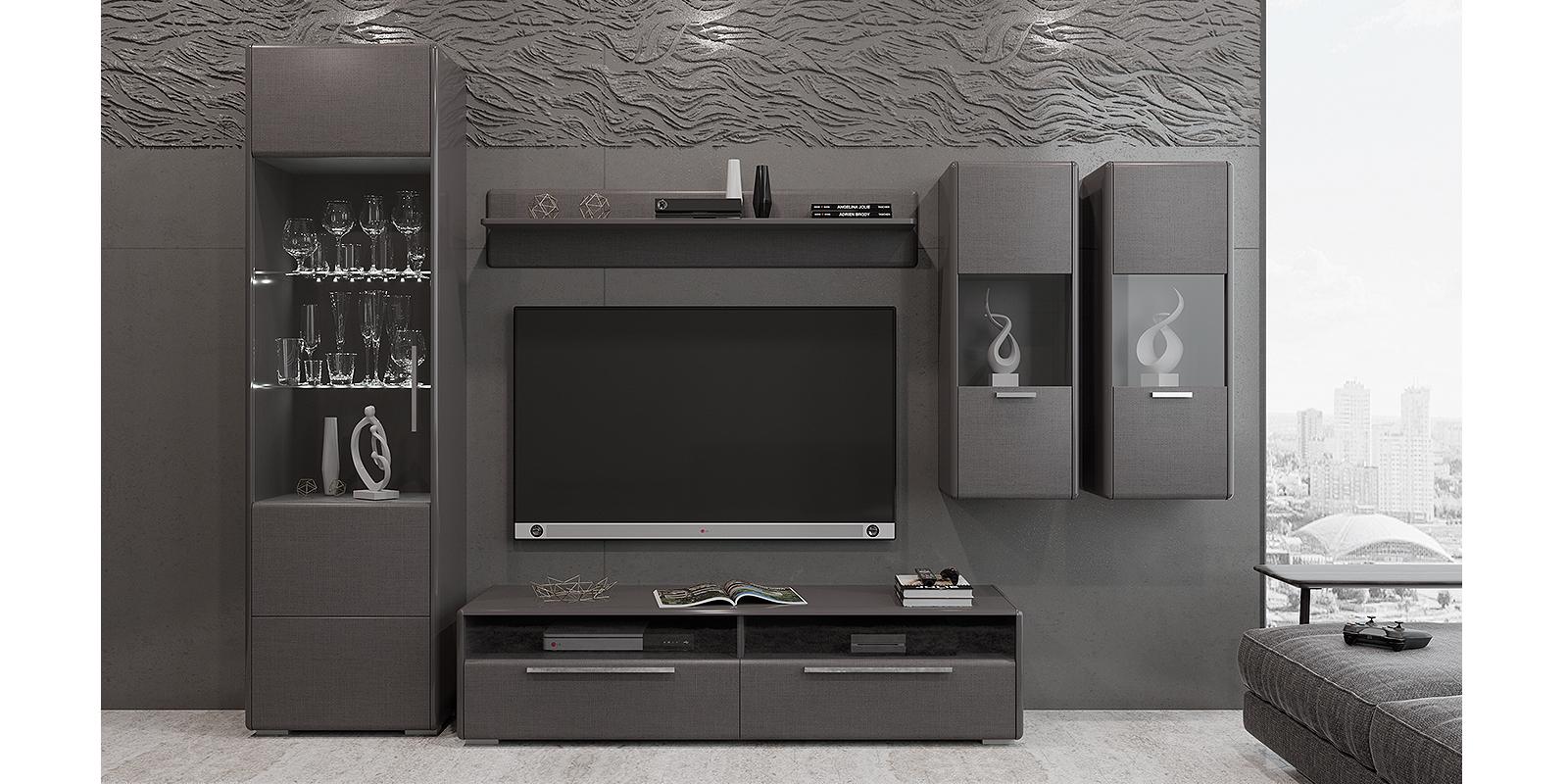 Модульная система Сорренто вариант №6 (серый/коричневый) от HomeMe.ru