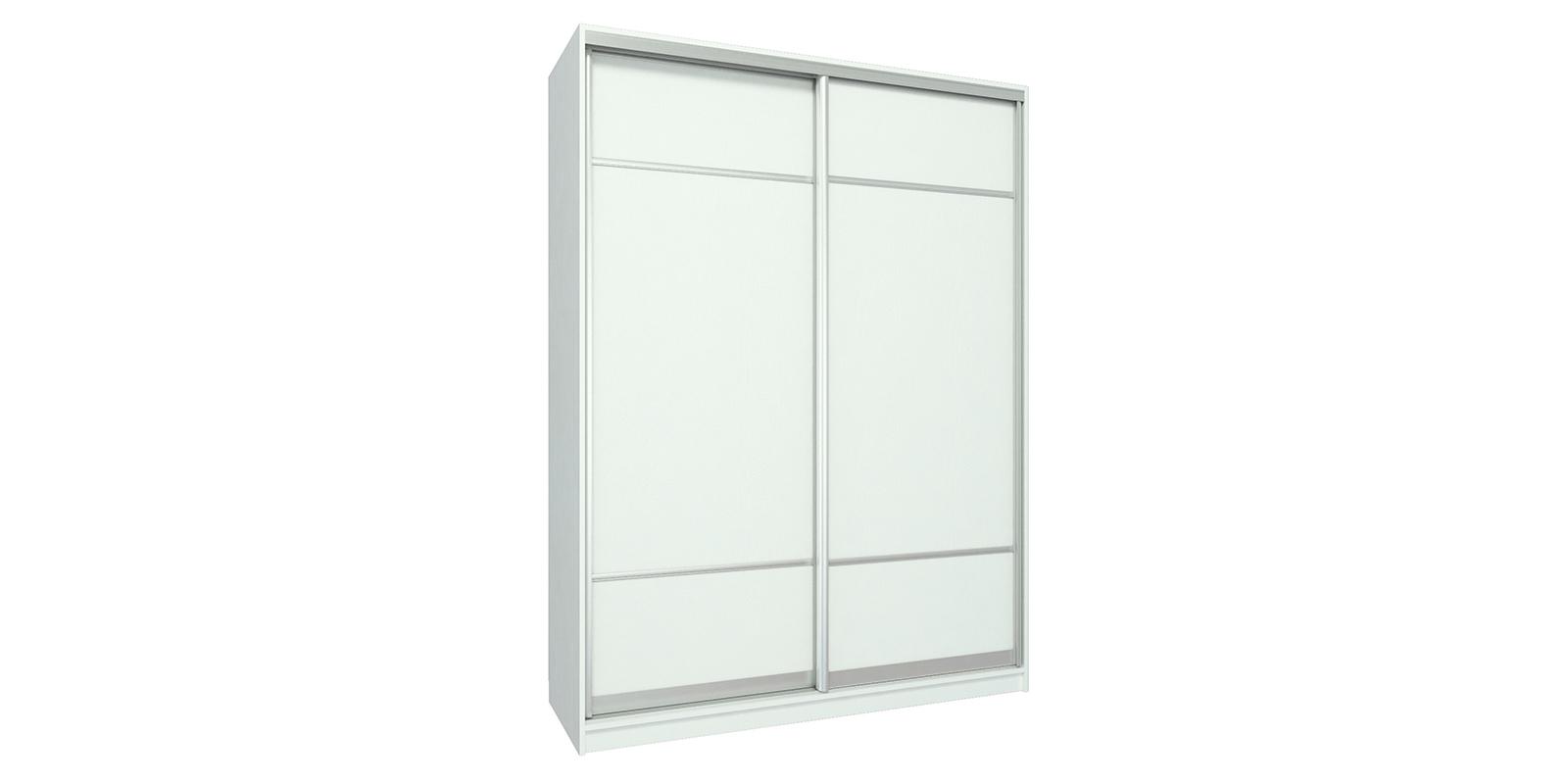 Купить шкаф-купе двухдверный бостон 160 см (белый) со скидко.