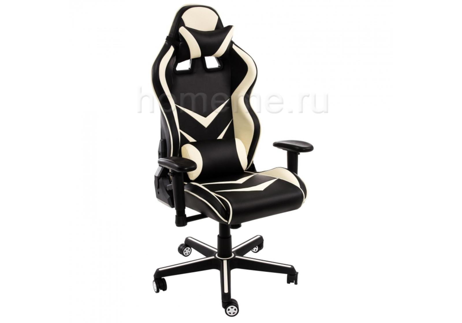 Кресло для офиса HomeMe Racer черное / бежевое 1857 от Homeme.ru