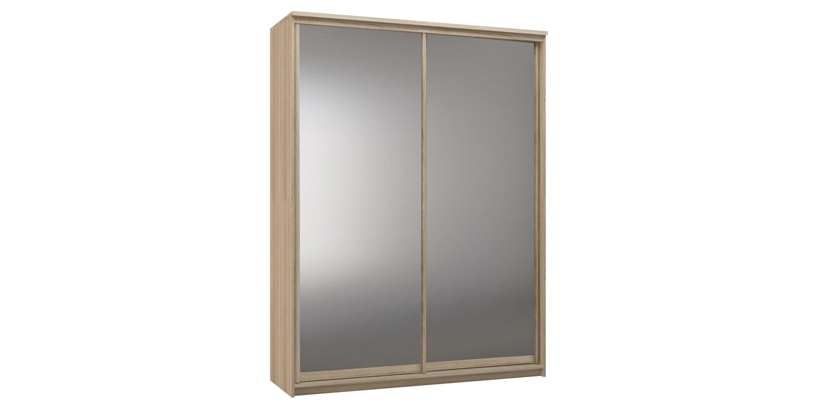 Шкаф-купе двухдверный Верона 180 см (дуб сонома/зеркальный)