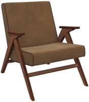Кресло для отдыха Вест Орех, ткань Verona Brown, кант Verona Wenge