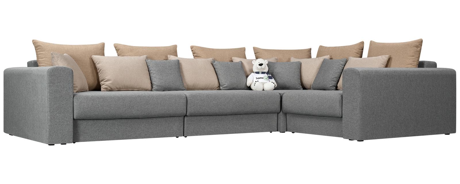 Купить со скидкой Модульный диван Медисон Вариант №2 Falcone серый (Рогожка)