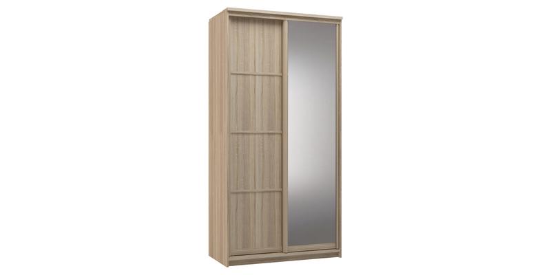 Шкаф-купе двухдверный Верона 120 см (дуб сонома/зеркало)