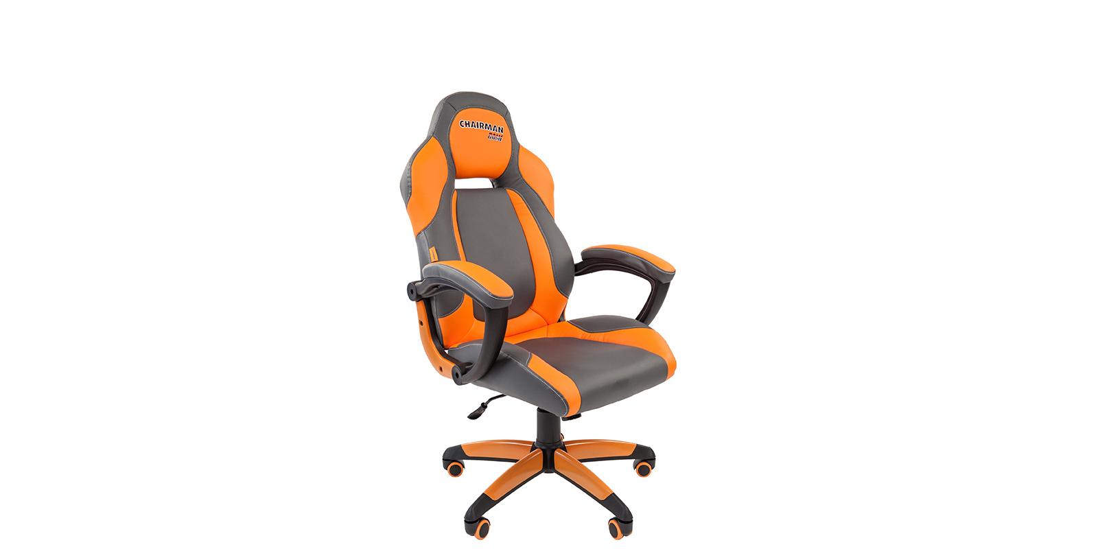 Игровое кресло Chairman game 20 (серый/оранжевый)