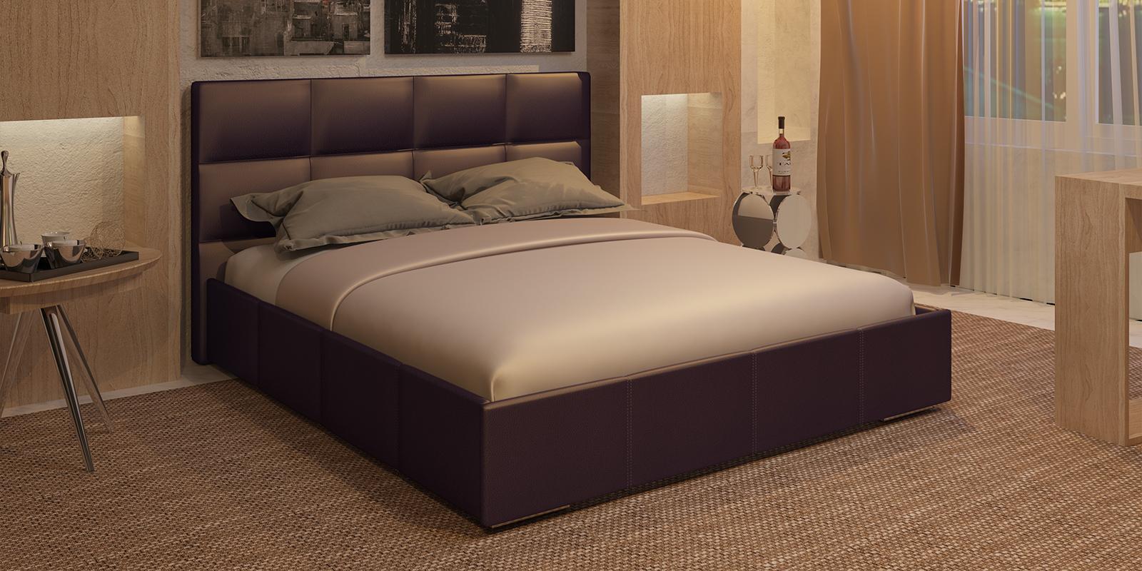 Мягкая кровать 200х160 Лайф с подъемным механизмом (Шоколад) Лайф