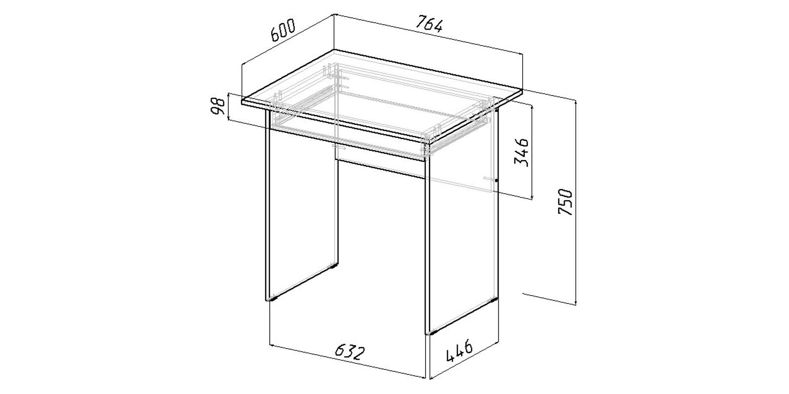Стол письменный Харви вариант №3 (венге/дуб молочный)