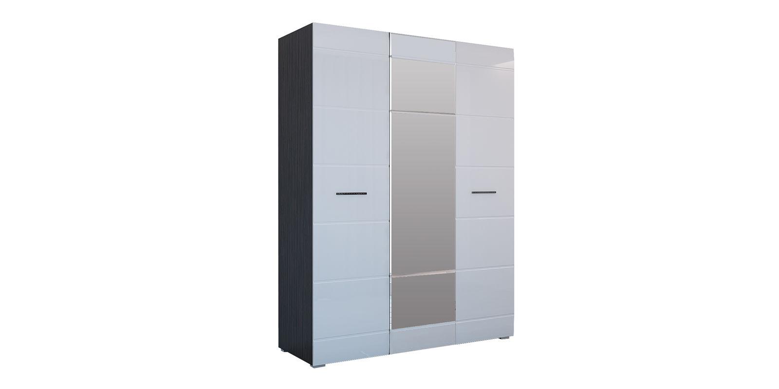 Шкаф распашной трехдверный Римини (венге/белый глянец)