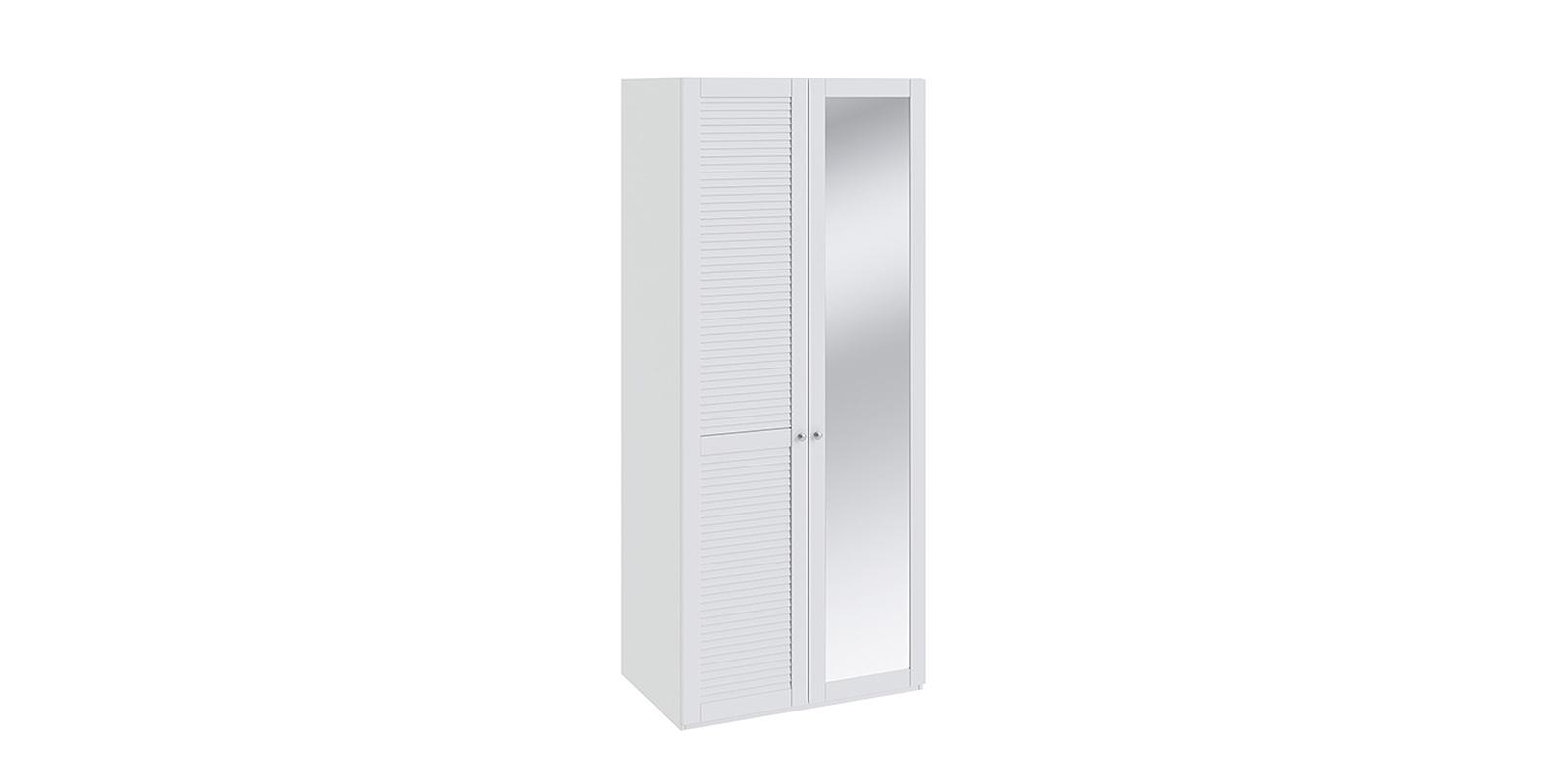 Шкаф распашной двухдверный Мерида вариант №4 левый (белый/зеркало)