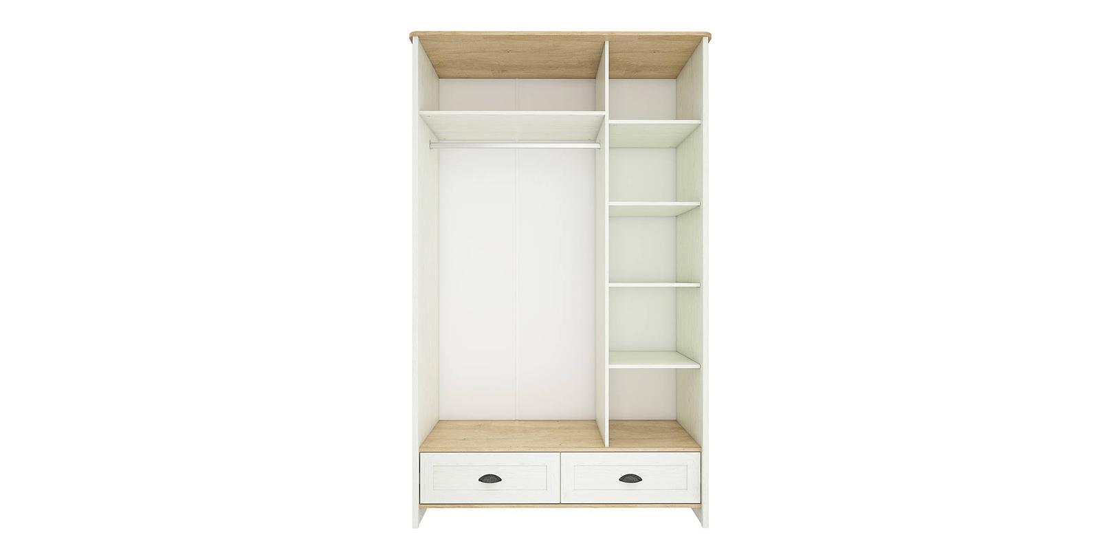 Шкаф распашной трехдверный Эстель (дуб небраска/белый)