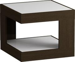 Стол журнальный LS 746 02.11 (корпус-венге,стекло-белый)