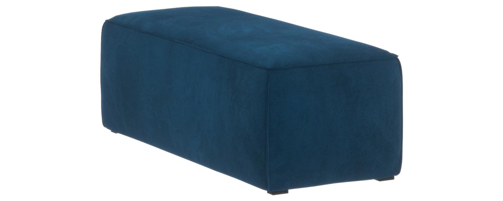Банкетка Портленд Premier светло-синий (Микровелюр, правый)