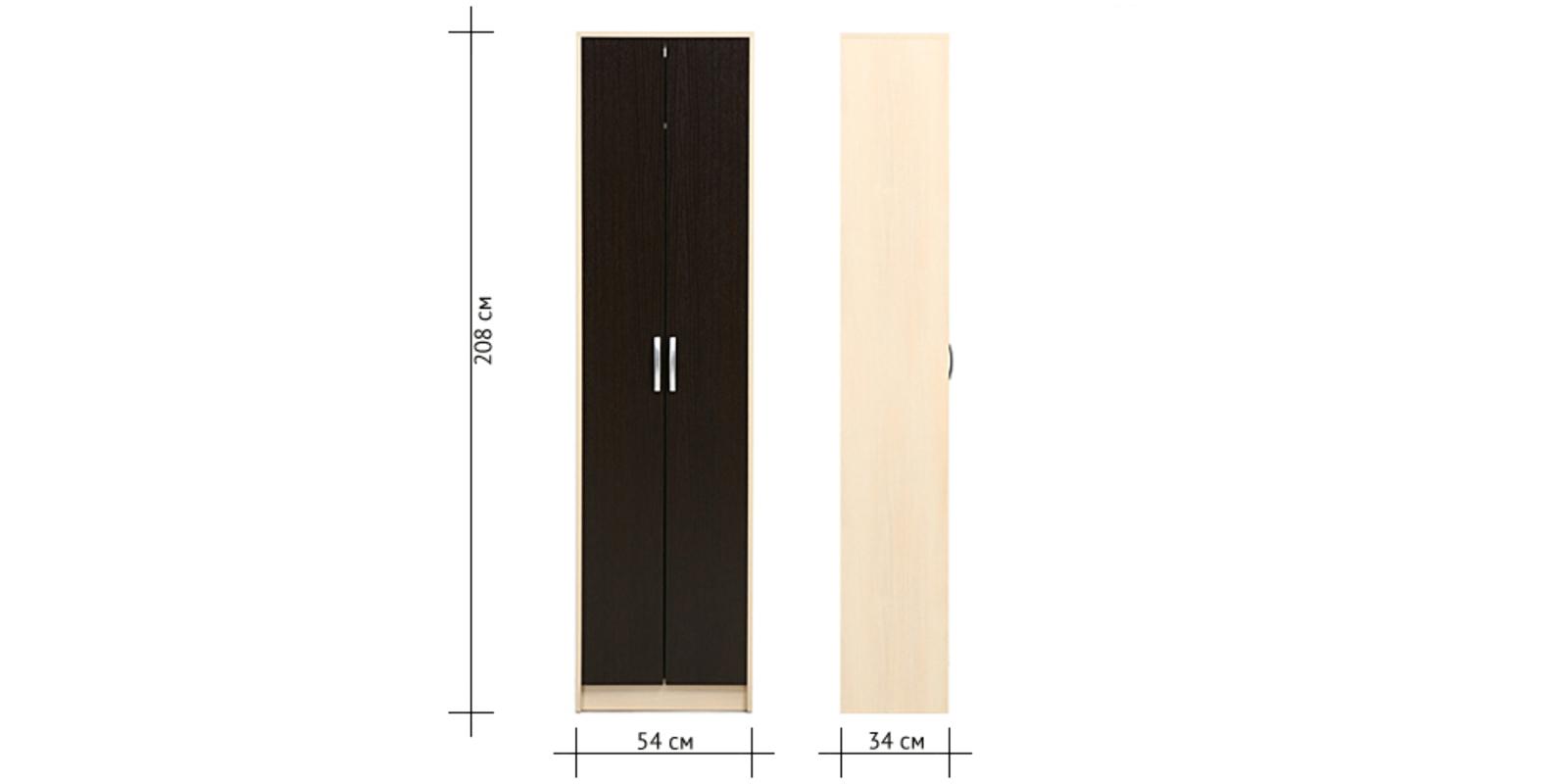 Шкаф распашной двухдверный Мичиган (дуб кремона/венге) от HomeMe.ru